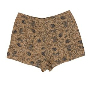 NWT LUCCA COUTURE Tan Black Floral Print Shorts